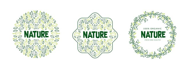 Fototapeta organic and nature logo template design obraz