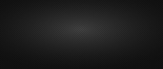 Black background metal square mesh. Monochrome seamless background.