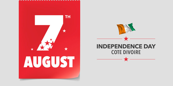 Cote Divoire Independence Day Greeting Card
