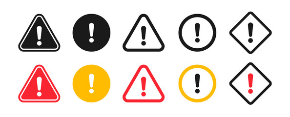 Fototapeta Caution signs. Symbols danger and warning signs. obraz