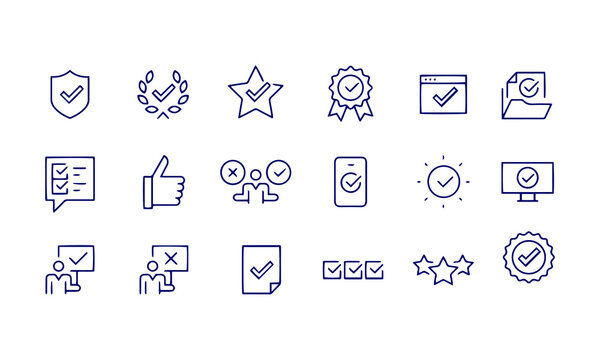 Approve Icons vector design