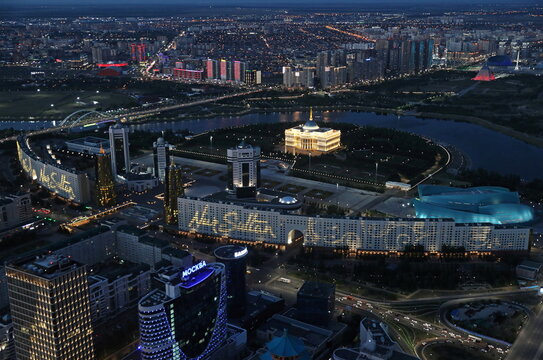 A general view shows the the city of Nur-Sultan