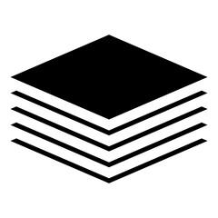 Fototapeta Stack, tier, layers tower icon, symbol. Multitier icon obraz