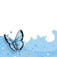 Fototapeta butterfly - motyl - szablon etykiety obraz