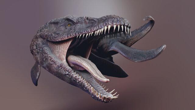 Predator X -  Pliosaurus Funkei Concept Project,  of background, 3d render