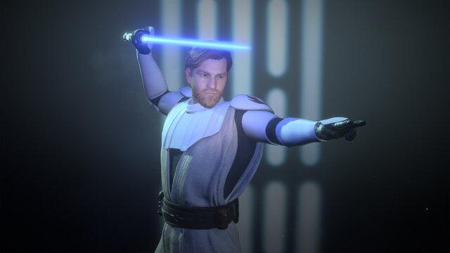 3D Render General Obi Wan Kenobi, 1 Jul, 2021, Sao Paulo, Brazil