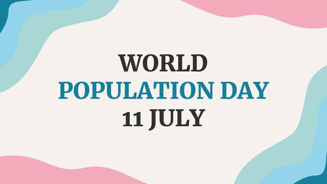 Banner Social Media Posts Happy World Population Day