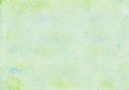 Watercolor painting background in green and blue which had painted with a microfiber paint roller