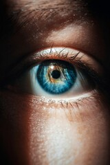 Obraz Close-up Portrait Of Human Eye - fototapety do salonu