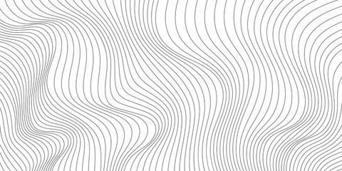 Obraz Wavy shapes, shades of gray. Light vector background, banner. - fototapety do salonu