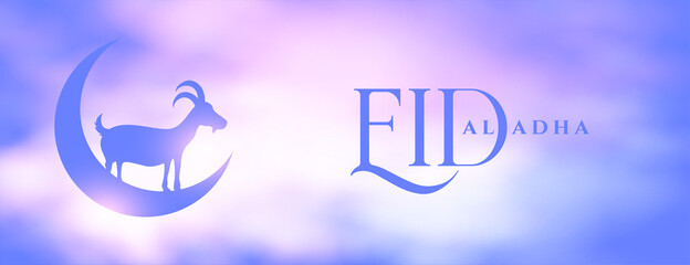 Obraz eid al adha cloudy festival banner design - fototapety do salonu