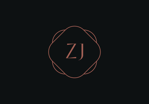 Initial letters ZJ logo design template