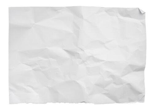 Papier zerknittert weiß