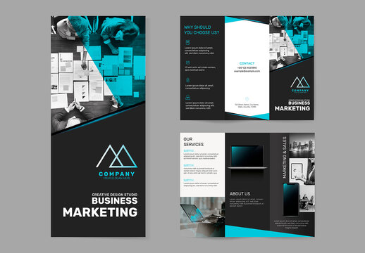 Business Brochure Template for Marketing Company