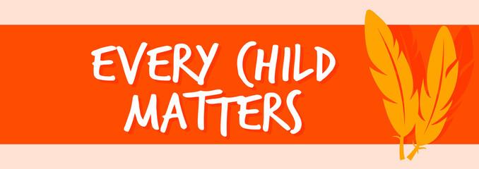Fototapeta Every Child Matters Logo Design. Vector Illustration. Canadian Indigenous Tragedy Illustration. obraz