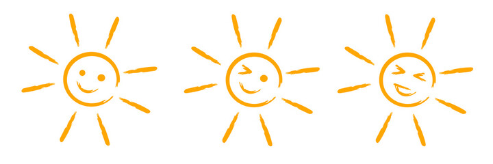 Obraz Ilustracja słońce, ikona - fototapety do salonu