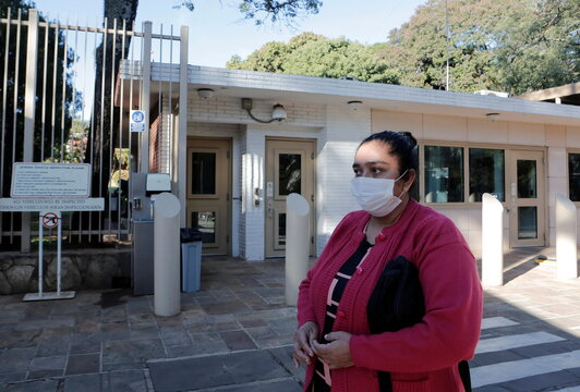 Juana Villalba, mother of missing woman in Miami building collapse, picks up emergency visa to fly to the U.S., in Asuncion
