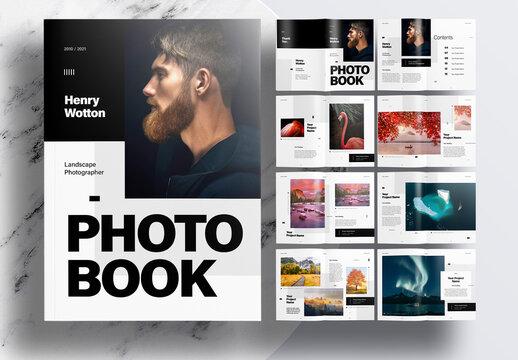 Modern Portfolio or Photobook Layout