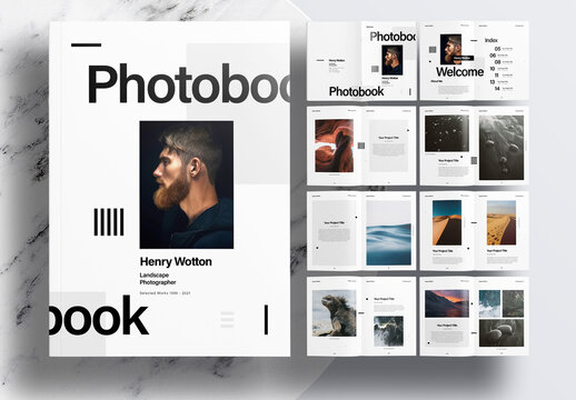Minimalist Portfolio or Photobook Layout