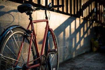 Bike in shadow