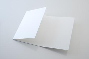 Obraz Trifold brochure mock up view - 3d rendering - fototapety do salonu
