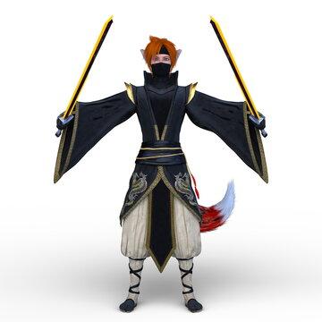 二刀流の剣士