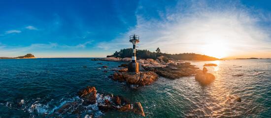 Coastal lighthouse on Dongshan Island, Fujian Province, China