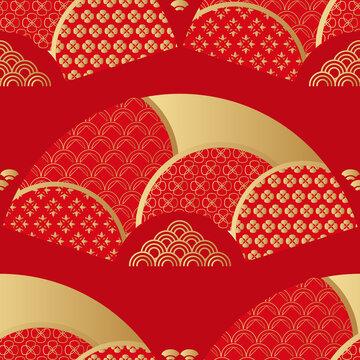 Chinese fan pattern 1
