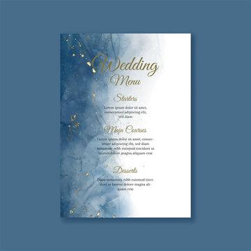 Elegant hand painted wedding menu