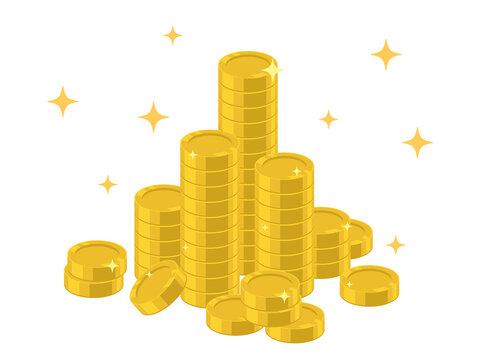 コイン、お金のイラスト