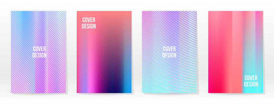 Holographic Poster Set Iridescent Technology Cover