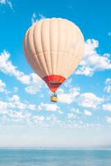 balloon, air, hot, sky, hot air balloon, balloons, colorful, flying, fly, flight, blue, transportation, basket, sport, travel, floating, adventure, hot air balloons, landscape, festival, ballooning, h