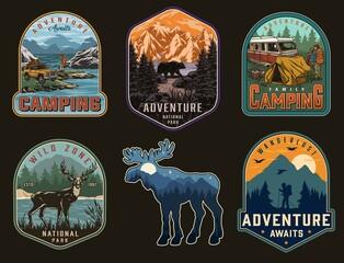 Obraz Adventure time vintage labels - fototapety do salonu