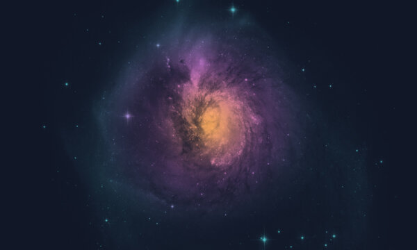 space background with realistic nebula and galaxy