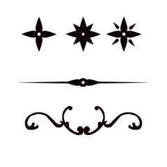 Fototapeta ornament, gwiazdki - linia obraz