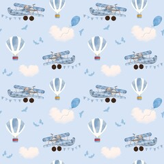 Obraz Adorable animals  illustration seamless pattern for kids project, fabric, scrapbooking, crafting, invitation and many more. - fototapety do salonu