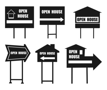 House yard sign, Empty street sign, vector illustration isolated
