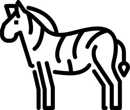 zebra outline icon