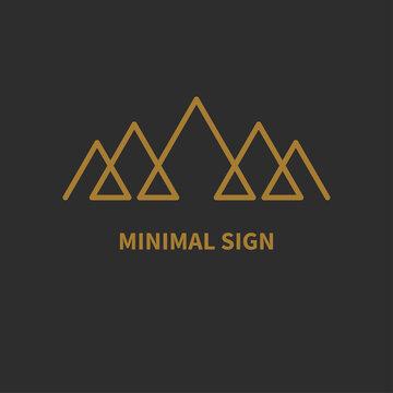 Montains line minimal icon