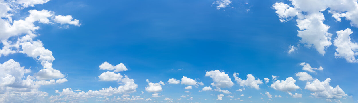 Beautiful panorama blue sky and clouds with daylight natural background.