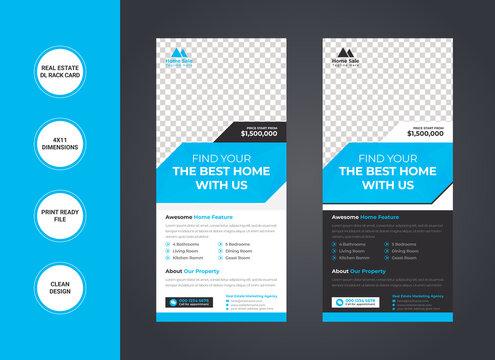 Real Estate dl Rack Card template design