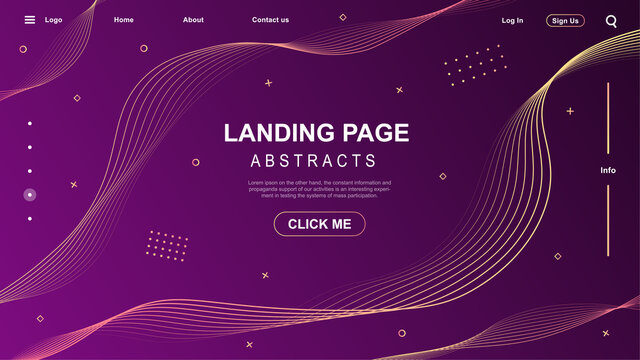 Abstract modern graphic element. Dynamical colored forms and waves. Gradient abstract banner with flowing liquid shapes. Template design landing page or background.