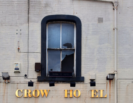 leeds, west yorkshire united kingdom - 17 june 2021: the derelict crown hotel soon to be redeveloped as part of the aire park mixed use development site