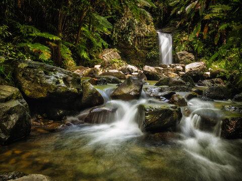 Juan Diego Waterfalls in El Yunque National Rainforest