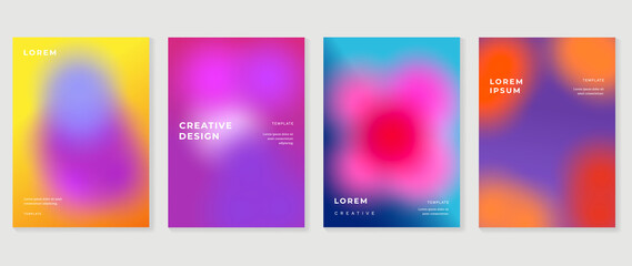 Fototapeta Fluid gradient background. Minimalist posters, cover, wall arts with colorful geometric shapes and liquid color. Modern wallpaper design for presentation, home decoration.  website and banner. obraz