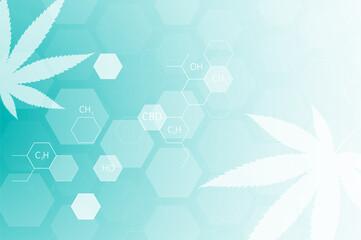 Obraz Formula molecular structure of marijuana for CBD - fototapety do salonu