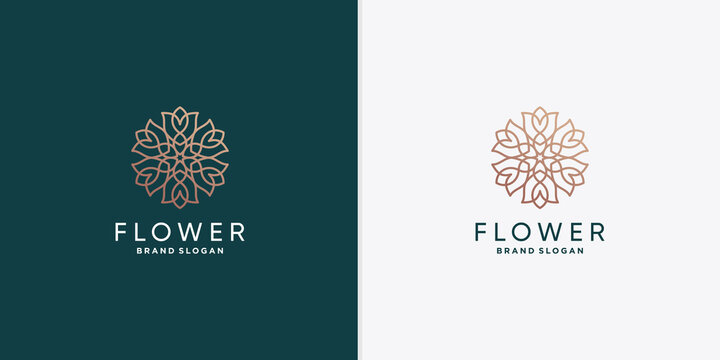 Flower logo template for woman, beauty, spa, wellness company Premium Vector part 2
