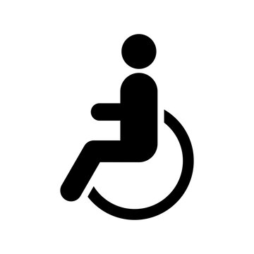 Persons with disabilities icon. Vector illustration.