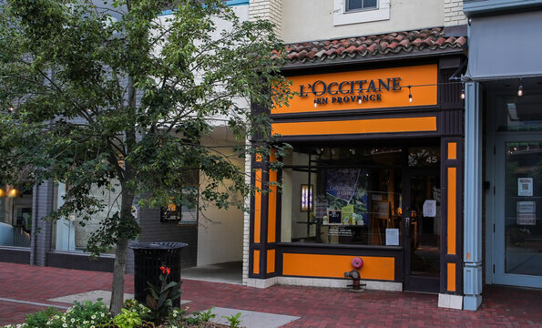 L'Occitane en Provence store entrance view from Main Street in down town area
