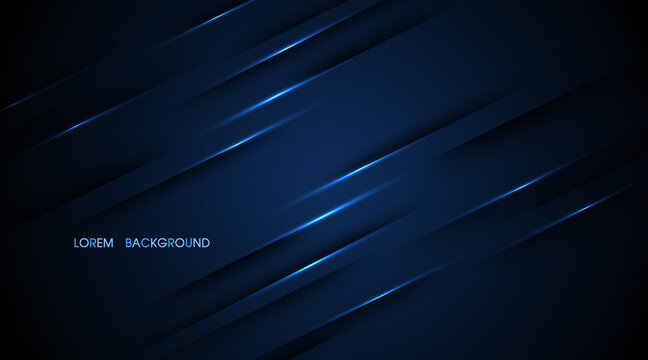 Navy blue abstract with lines glow illustration background